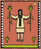 American Indian woman clip art