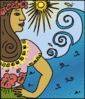 Hawaiian woman clip art