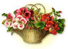 basket pretty flowers clip art