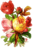 colorful roses clip art