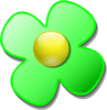 crystal flower green clip art