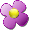 crystal flower purple clip art
