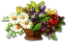 small flower basket clip art