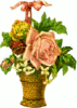 tall basket flowers clip art