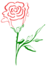 two tone rose clip art