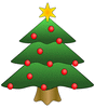 christmas tree 01 clip art