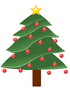 lightly decorated evergreen 01 clip art
