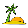 palm tropical clip art