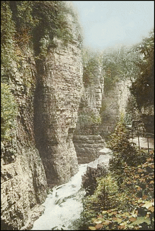 Postcard AuSable Chasm NY