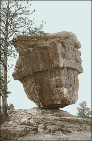 Postcard Balanced Rock CO