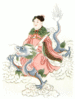 Chinese Spirit of the well clip art