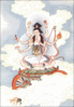 Chinese Tou Mu Goddess of the North Star clip art