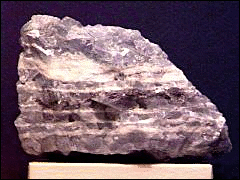Calcite blue banded