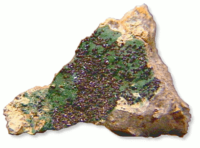 Clinoclase on Cornubite