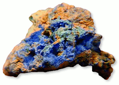 Cyanotrichite Hydrated Copper Aluminum Sulfate Hydroxide
