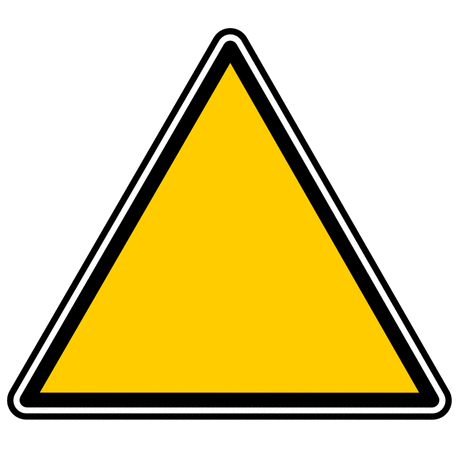 Safety Yellow triangle yves guillou 01
