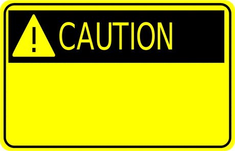 Safety caution sign w exclamation