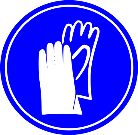 Safety gloves required sign