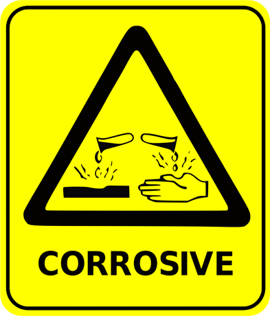 Safety safety sign corrosive