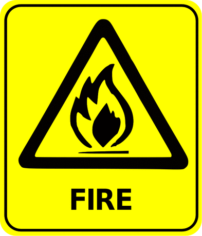 Safety safety sign fire