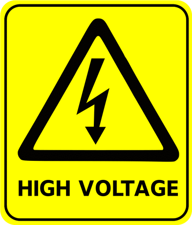 Safety safety sign high voltage