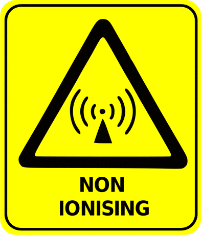 Safety safety sign non ionising