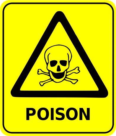 Safety safety sign poison