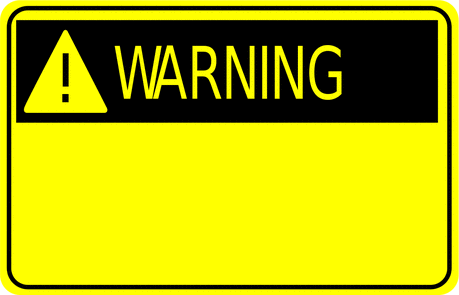 Safety warning sign