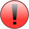 Red attention clip art