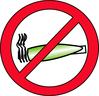 Red no smoking 01 clip art