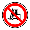 Red no vehicle access clip art