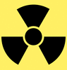 Safety radiation warning clip art