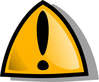 Safety warning rounded triangle clip art