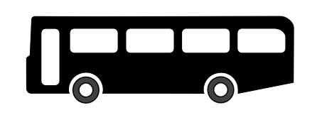 Street Road Sign bus symbol black 01