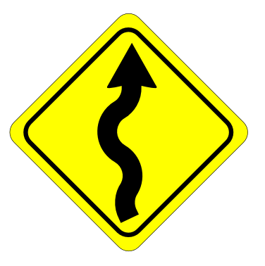 Street Road Sign curvy road ahead sign 01