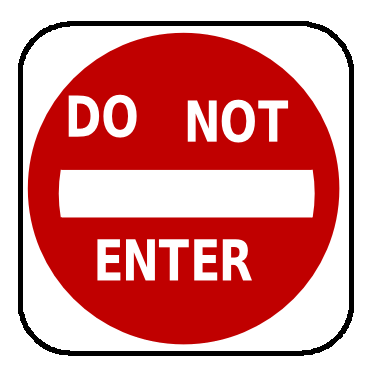 Street Road Sign do not enter sign 01