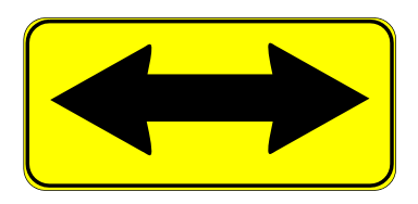 Street Road Sign double arrow sign 01