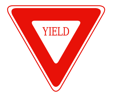 Street Road Sign yield