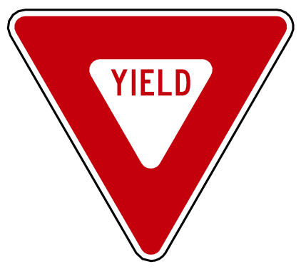 US street sign yield