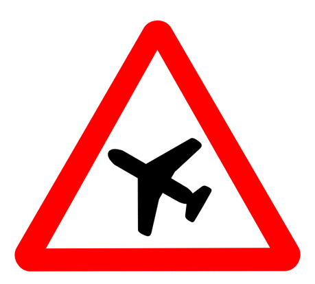 Street Road Sign airplane