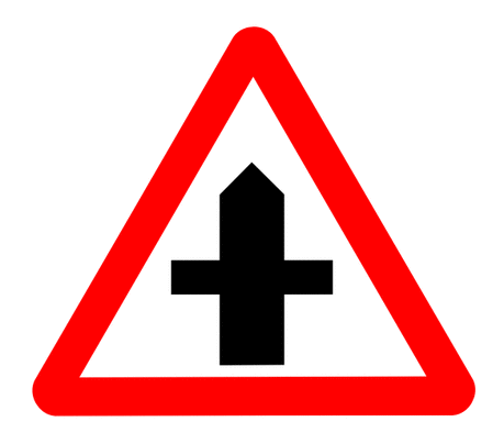 Street Road Sign crossroads