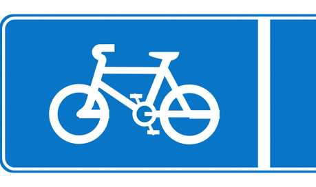 Street Road Sign cycle lane