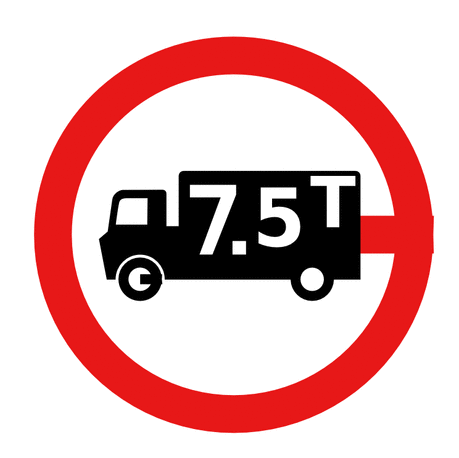 Street Road Sign lorry limit