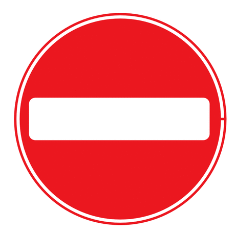 Street Road Sign no entry