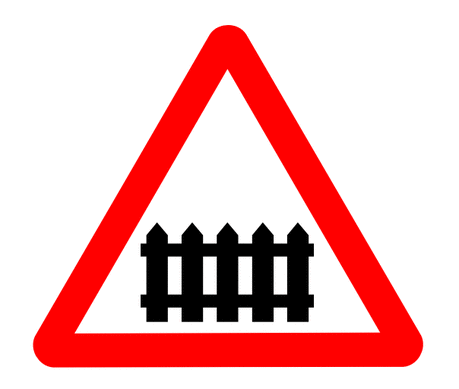 Street Road Sign rail fence