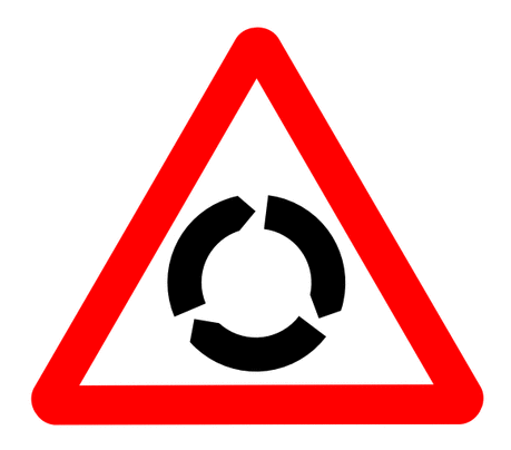 Street Road Sign roundabout