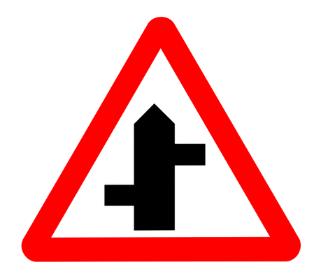 Street Road Sign staggered