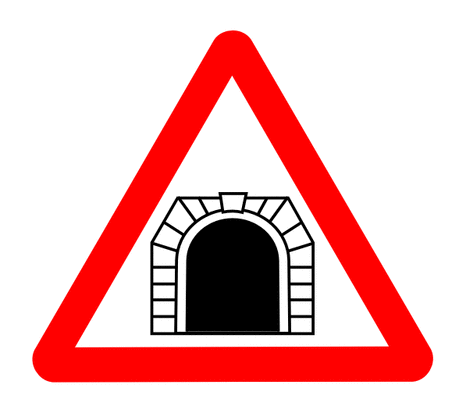 Street Road Sign tunnel