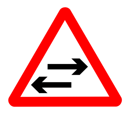 Street Road Sign two way crosses