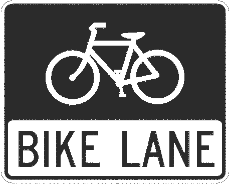 US street sign bike lane